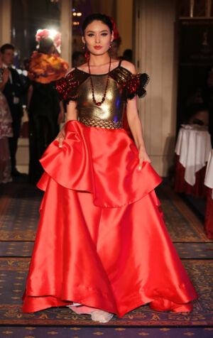 Andres Aquino fashion show at the Global Short Film Awards Gala held at the Intercontinental Carlton Cannes, Cannes, France. Jewelry by Jennifer Reeves.