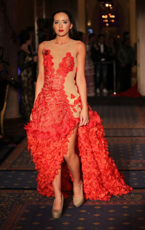 Larol by Larysa Rabinska fashion show at the Global Short Film Awards Gala held at the Intercontinental Carlton Cannes, Cannes, France.