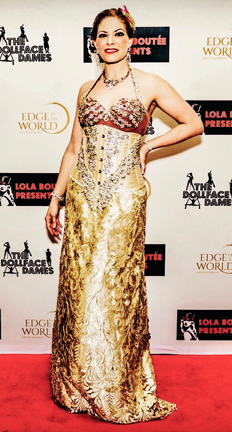Kapriva Couture fashion show at the Global Short Film Awards gala in Cannes, France